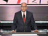 United States Representative Greg Walden (Republican of  Oregon), Chair, National Republican Congressional Committee, makes remarks at the 2016 Republican National Convention held at the Quicken Loans Arena in Cleveland, Ohio on Monday, July 18, 2016.<br /> Credit: Ron Sachs / CNP<br /> (RESTRICTION: NO New York or New Jersey Newspapers or newspapers within a 75 mile radius of New York City)