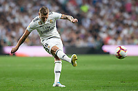Toni Kroos  of Real Madrid during the match between Real Madrid v Atletico Madrid of LaLiga, date 7, 2018-2019 season. Santiago Bernabéu Stadium. Madrid, Spain - 29 SEP 2018.