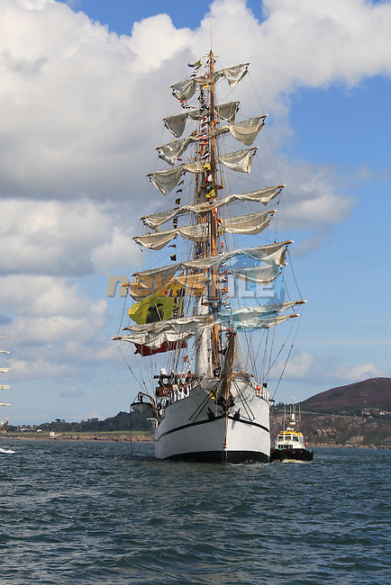 The tall ships leaving Dublin port after the 2012 Tall ships festival..Picture: Fran Caffrey / www.newsfile.ie