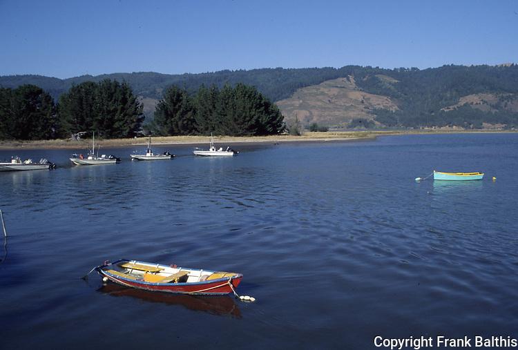 boats on Bolinas Lagoon
