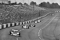 HAMPTON, GA - APRIL 22: Rick Mears (#9 Penske/Cosworth TC) leads a group of cars during the Gould Twin Dixie 125 event on April 22, 1979, at Atlanta International Raceway near Hampton, Georgia.
