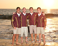 JSearra Catholic High School Team captains and coach.