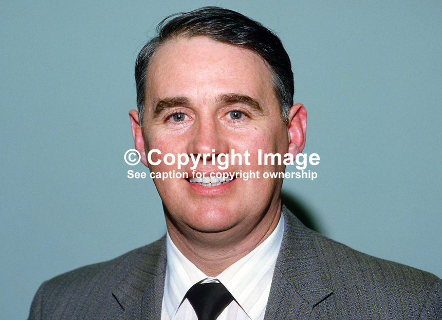 William Martin, aka Billy Martin, deputy president, Ulster Farmers' Union, N Ireland, 19850020WM.<br />
