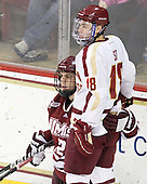 Rocco Carzo (UMass - 12), Michael Sit (BC - 18) - The Boston College Eagles defeated the University of Massachusetts-Amherst Minutemen 3-2 to take their Hockey East Quarterfinal matchup in two games on Saturday, March 10, 2012, at Kelley Rink in Conte Forum in Chestnut Hill, Massachusetts.
