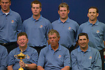 European Team Photo for the 2006 Ryder Cup at The K Club featuring Robert Karlsson, Henrik Stenson, Lee Westwood, Sergio Garcia, Captain Ian Woosnam, Darren Clarke and Jose Maria Olazabal..Photo: Eoin Clarke/Newsfile.