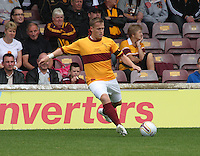 Steven Hammell in the Motherwell v Everton friendly match at Fir Park, Motherwell on 21.7.12 for his Testimonial.