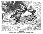 """Resource. Motor Cyclist. """"Quick! Evangeline—pinch baby; The horn won't work!"""""""