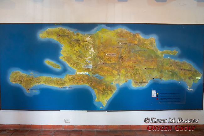 Map Of Dominican Republic, Museum Of The Royal Houses