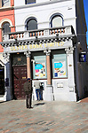 Ulster Bank Limited customers at cashpoint machine, Cork city, County Cork, Ireland