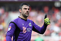 Scunthorpe United goalkeeper, Matt Gilks during Charlton Athletic vs Scunthorpe United, Sky Bet EFL League 1 Football at The Valley on 14th April 2018