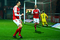 Fleetwood Town's Dean Marney celebrates scoring his side's first goal   <br /> <br /> Photographer Richard Martin-Roberts/CameraSport<br /> <br /> The EFL Sky Bet League One - Fleetwood Town v Coventry City - Tuesday 27th November 2018 - Highbury Stadium - Fleetwood<br /> <br /> World Copyright &not;&copy; 2018 CameraSport. All rights reserved. 43 Linden Ave. Countesthorpe. Leicester. England. LE8 5PG - Tel: +44 (0) 116 277 4147 - admin@camerasport.com - www.camerasport.com