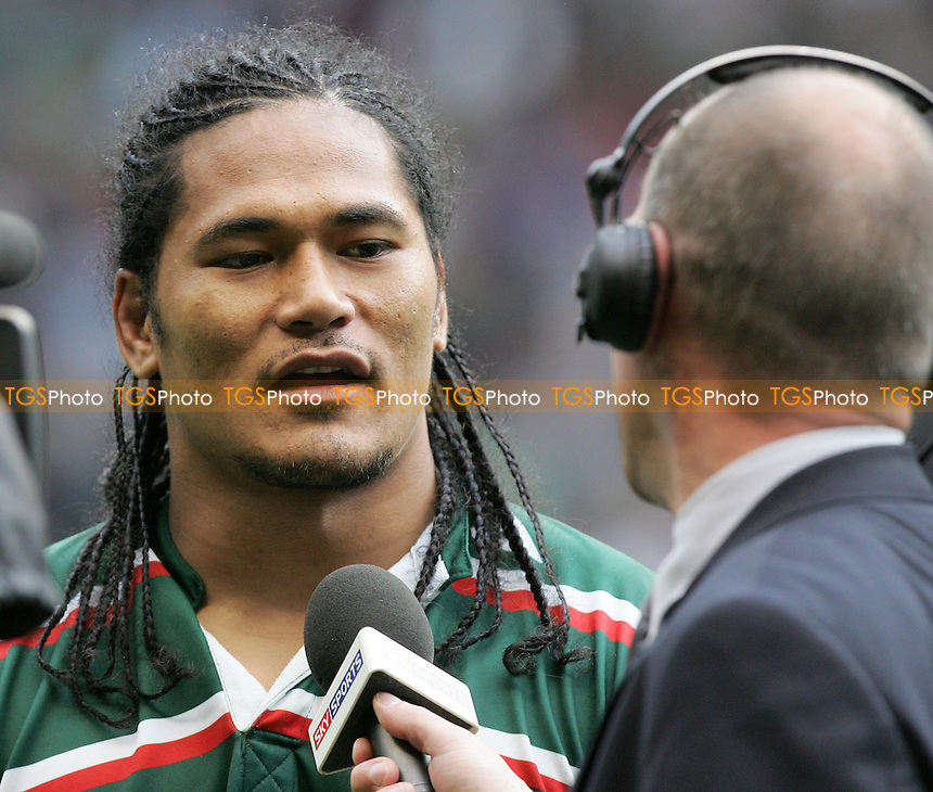 Leicester hero Alesana Tuilagi is interviewed after the match  - Gloucester Rugby vs Leicester Tigers - Guinness Premiership Final at Twickenham Stadium - 12/05/07 - MANDATORY CREDIT: Gavin Ellis/TGSPHOTO - SELF-BILLING APPLIES WHERE APPROPRIATE. NO UNPAID USE -  Tel: 0845 0946026