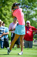 Belen Mozo (ESP) watches her tee shot on 18 during Saturday's round 3 of the 2017 KPMG Women's PGA Championship, at Olympia Fields Country Club, Olympia Fields, Illinois. 7/1/2017.<br /> Picture: Golffile | Ken Murray<br /> <br /> <br /> All photo usage must carry mandatory copyright credit (&copy; Golffile | Ken Murray)