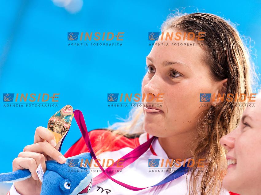 Mie Oe. NIELSEN DEN Gold Medal<br /> 100m Backstroke FINA <br /> London, Queen Elizabeth II Olympic Park Pool <br /> LEN 2016 European Aquatics Elite Championships <br /> Swimming<br /> Day 11 19-05-2016<br /> Photo Andrea Staccioli/Deepbluemedia/Insidefoto