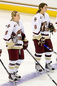Allie Thunstrom (BC - 9), Allison Szlosek (BC - 8) - The University of Minnesota-Duluth Bulldogs defeated the Boston College Eagles 3-0 on Friday, November 27, 2009, at Conte Forum in Chestnut Hill, Massachusetts.
