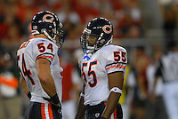 Oct. 16, 2006; Glendale, AZ, USA; Chicago Bears linebacker (54) Brian Urlacher and linebacker (55) Lance Briggs against the Arizona Cardinals at University of Phoenix Stadium in Glendale, AZ. Mandatory Credit: Mark J. Rebilas