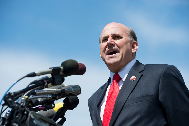 UNITED STATES - MAY 14: Rep. Louie Gohmert, R-Texas, speaks during a news conference at the House Triangle on immigration reform on Tuesday, May 14, 2013 . (Photo By Bill Clark/CQ Roll Call)