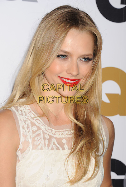 Teresa Palmer.Arriving at the GQ Men Of The Year Party at Chateau Marmont Hotel in Los Angeles, California, USA..November 13th, 2012.headshot portrait red lace sleeveless lipstick white.CAP/ROT/TM.©Tony Michaels/Roth Stock/Capital Pictures