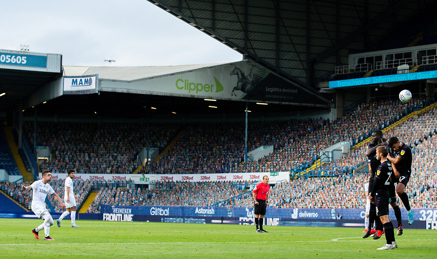 Leeds United's Pablo Hernandez sees his freekick hit the wall<br /> <br /> Photographer Alex Dodd/CameraSport<br /> <br /> The EFL Sky Bet Championship - Leeds United v Charlton Athletic - Wednesday July 22nd 2020 - Elland Road - Leeds <br /> <br /> World Copyright © 2020 CameraSport. All rights reserved. 43 Linden Ave. Countesthorpe. Leicester. England. LE8 5PG - Tel: +44 (0) 116 277 4147 - admin@camerasport.com - www.camerasport.com