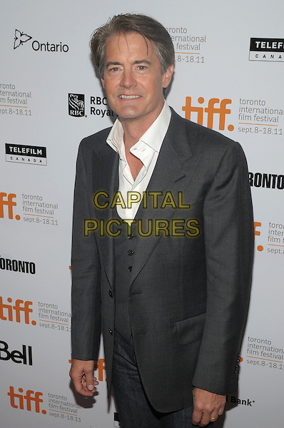 "Kyle MacLachlan.""Peace, Love & Misunderstanding"" Premiere - 2011 Toronto International Film Festival held at Roy Thomson Hall, Toronto, Ontario, Canada..September 13th, 2011.half length grey gray suit jacket white shirt.CAP/ADM/BPC.©Brent Perniac/AdMedia/Capital Pictures."