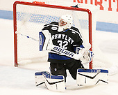 Jayson Argue (Bentley - 32) - The visiting Bentley University Falcons defeated the Northeastern University Huskies 3-2 on Friday, October 16, 2015, at Matthews Arena in Boston, Massachusetts.