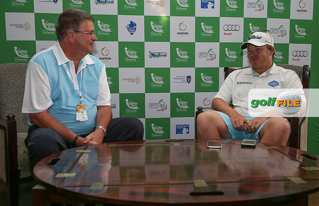 Defending Champion George Coetzee (RSA) is amazed by the depth of SA golf at the moment but the wins by both Brandon Stone (RSA) and Haydn Porteous (RSA) making him feel like a senior, during the media interviews ahead of the 2016 Tshwane Open, played at the Pretoria Country Club, Waterkloof, Pretoria, South Africa.  10/02/2016. Picture: Golffile | David Lloyd<br /> <br /> All photos usage must carry mandatory copyright credit (&copy; Golffile | David Lloyd)