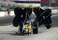 Aug. 31, 2012; Claremont, IN, USA: NHRA top alcohol dragster driver Bill Reichert during qualifying for the US Nationals at Lucas Oil Raceway. Mandatory Credit: Mark Rebilas-
