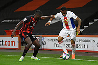 Jordan Ayew of Crystal Palace vies with Jefferson Lerma of Bournemouth during AFC Bournemouth vs Crystal Palace, Carabao Cup Football at the Vitality Stadium on 15th September 2020