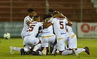 RIONEGRO - COLOMBIA, 26-07-2019: Danovis Banguero jugador del Deportes Tolima celebra después de anotar un gol al Rionegrodurante el encuentro por la fecha 3 de la Liga Águila II 2019  jugado en el estadio Alberto Grisales de la ciudad de Rionegro. / Danovis Banguero player of Deportes Tolima celebrates after scoring a goal agaisnt  of Rionegro during match for the  date 3 of league Aguila II 2019  played at the Alberto Grisales Stadium in Rionegro city. Photo: VizzorImage / León Monsalve / Contribuidor
