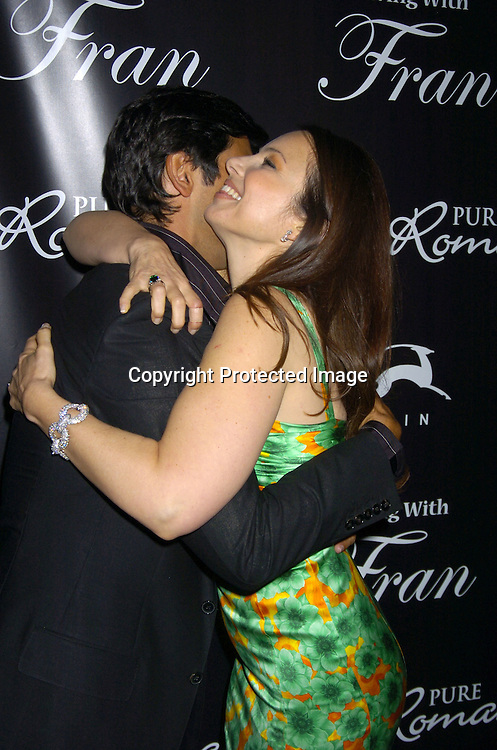 "Mark Consuelos and Fran Drescher ..at The Premiere Party for ""Living with Fran""  sponsored by ..Pureromance.com on April 8, 2005 at Cain Lounge. ..Photo by Robin Platzer, Twin Images"
