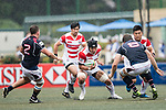 Naoki Ozawa of Japan (C) in action during the Asia Rugby Championship 2017 match between Hong Kong and Japan on May 13, 2017 in Hong Kong, Hong Kong. (Photo by Cris Wong / Power Sport Images)