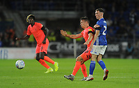 Huddersfield Town's Jonathan Hogg battles with Cardiff City's Gavin Whyte<br /> <br /> Photographer Ian Cook/CameraSport<br /> <br /> The EFL Sky Bet Championship - Cardiff City v Huddersfield Town - Wednesday August 21st 2019 - Cardiff City Stadium - Cardiff<br /> <br /> World Copyright © 2019 CameraSport. All rights reserved. 43 Linden Ave. Countesthorpe. Leicester. England. LE8 5PG - Tel: +44 (0) 116 277 4147 - admin@camerasport.com - www.camerasport.com