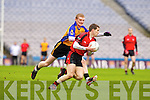 Paul O'Connor Kenmare in Action against Niall Hynes  Ballinasloe in the Junior All Ireland Club Final in Croke park on Sunday.