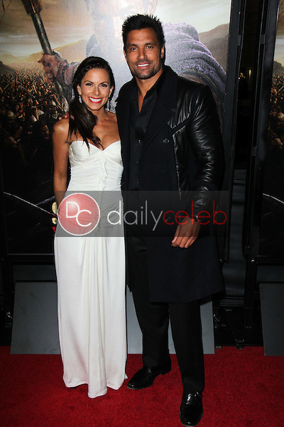 Manu Bennett, Karin Horen<br /> at the &quot;Spartacus: War Of The Damned&quot; Los Angeles Premiere, Regal Cinemas, Los Angeles, CA 01-22-13<br /> David Edwards/DailyCeleb.com 818-249-4998