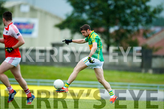 Killian Young South Kerry in action against  Dingle in the Quarter Final of the Kerry Senior County Championship at Austin Stack Park on Sunday.