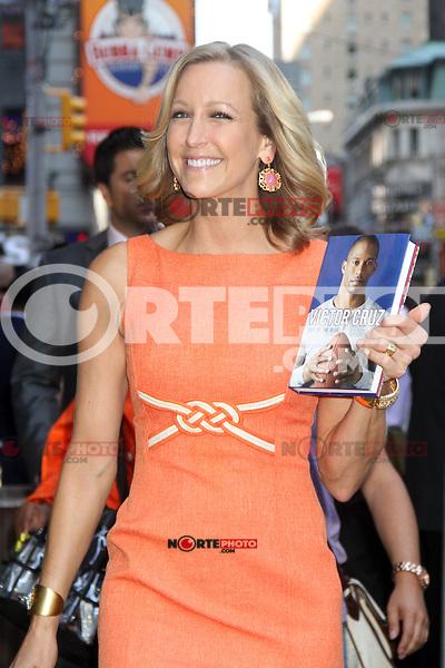 NEW YORK, NY - July 17, 2012: Lara Spencer at Good Morning America studios in New York City. &copy; RW/MediaPunch Inc. *NORTEPHOTO*<br /> **SOLO*VENTA*EN*MEXICO**<br /> **CREDITO*OBLIGATORIO** <br /> **No*Venta*A*Terceros**<br /> **No*Sale*So*third**<br /> *** No*Se*Permite Hacer Archivo**<br /> **No*Sale*So*third**
