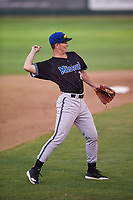 Missoula Osprey third baseman Carson Maxwell (24) during a Pioneer League game against the Great Falls Voyagers at Centene Stadium at Legion Park on August 19, 2019 in Great Falls, Montana. Missoula defeated Great Falls 1-0 in the second game of a doubleheader. (Zachary Lucy/Four Seam Images)