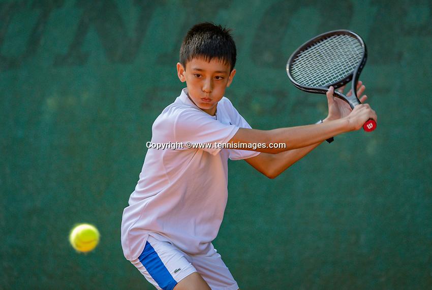 Hilversum, Netherlands, Juli 29, 2019, Tulip Tennis center, National Junior Tennis Championships 12 and 14 years, NJK, Hidde van der Vliet (NED)<br /> Photo: Tennisimages/Henk Koster