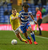 Leeds United's Kalvin Phillips (left) battles with Reading's Danny Loader (right)<br /> <br /> Photographer David Horton/CameraSport<br /> <br /> The EFL Sky Bet Championship - Reading v Leeds United - Tuesday 12th March 2019 - Madejski Stadium - Reading<br /> <br /> World Copyright &copy; 2019 CameraSport. All rights reserved. 43 Linden Ave. Countesthorpe. Leicester. England. LE8 5PG - Tel: +44 (0) 116 277 4147 - admin@camerasport.com - www.camerasport.com
