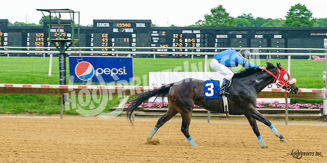 Fit For A Lady with Corey Mongan aboard winning at Delaware Park on 6/4/16<br /> This was Corey Mongan's 1st winners a Jockey!