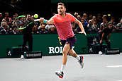 5th November 2017, Paris, France. Rolex Masters mens tennis tournament final;  Filip Krajinovic (Srb)