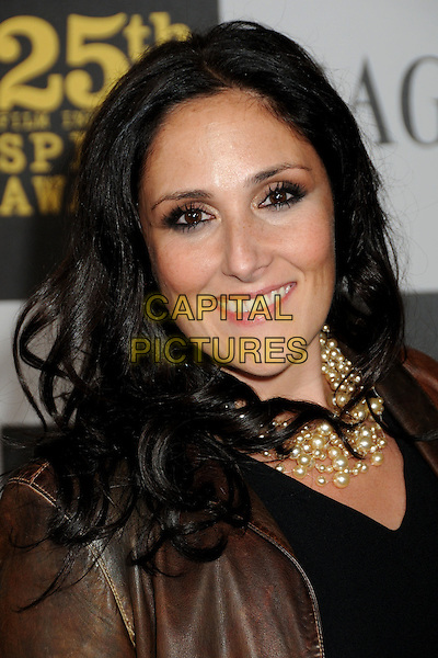 RICKI LAKE.25th Annual Film Independent Spirit Awards - Arrivals held at the Nokia Event Deck at L.A. Live, Los Angeles, California, USA..March 5th, 2010.headshot portrait brown leather black gold necklace pearl rikki .CAP/ADM/BP.©Byron Purvis/AdMedia/Capital Pictures.