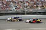 17 August 2008: Michael Waltrip (front) and Juan Pablo Montoya (rear) drive in the 3M Performance 400 at Michigan International Speedway, Brooklyn, Michigan, USA.