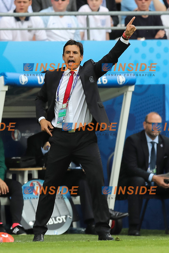 Wales Manager Chris Coleman <br /> Lens 16-06-2016 Stade Bollaert-Delelis Footballl Euro2016 England - Wales / Inghilterra - Galles Group Stage Group B. Foto Daniel Chesterton / PHC / Panoramic / Insidefoto