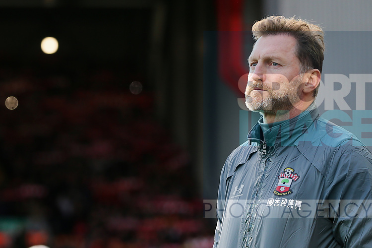 Southampton manager Ralph Hasenhuttl during the Premier League match at Anfield, Liverpool. Picture date: 1st February 2020. Picture credit should read: James Wilson/Sportimage