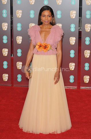 Naomie Harris at the EE British Academy Film Awards (BAFTAs) 2017, Royal Albert Hall, Kensington Gore, London, England, UK, on Sunday 12 February 2017.<br /> CAP/CAN<br /> &copy;CAN/Capital Pictures /MediaPunch ***NORTH AND SOUTH AMERICAS ONLY***