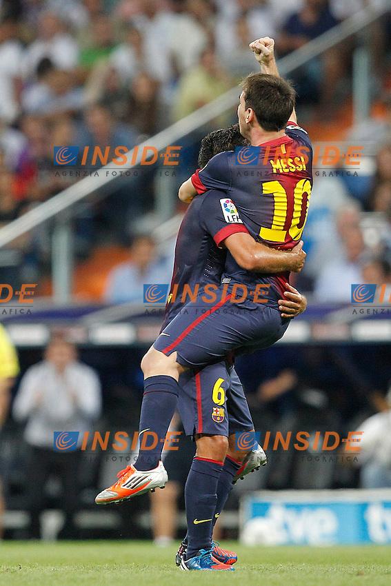 "F.C. Barcelona's Lionel Messi goal during Spanish Supercup 2nd match on august 29 2012...Photo: Cesar Cebolla / ALFAQUI .Madrid 29/8/2012 Stadio ""Santiago Bernabeu"".Football Calcio 2012/2013 Supercoppa di Lica.Real Madrid Vs Barcellona.Foto Insidefoto / Alterphotos"