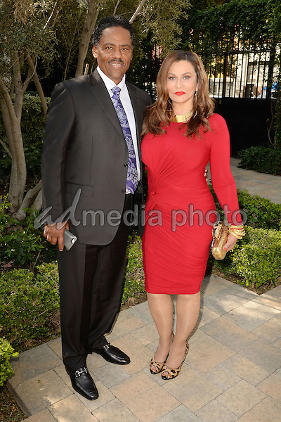 "27 February 2016 - Los Angeles, California - Richard Lawson, Tina Knowles Lawson. 4th Annual ""Gospel Goes To Hollywood"" Luncheon Awards held at Vibiana. Photo Credit: Koi Sojer/AdMedia"