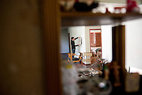 Daniel Garza-Usabiaga curator for the Chopo Museum at his house in the Cuahutemoc neighborhood of Mexico City.