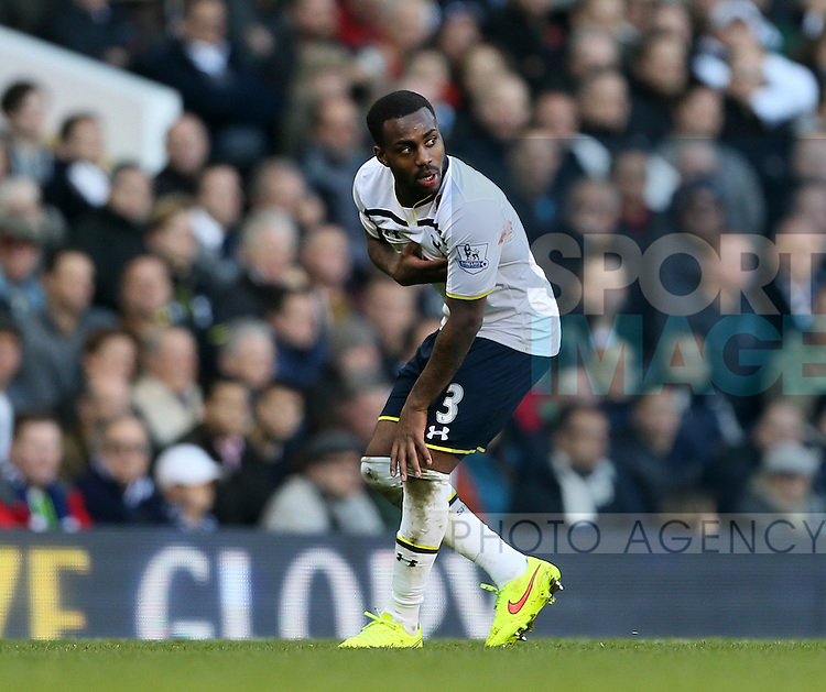 Tottenham's Danny Rose gets injured<br /> <br /> - Barclays Premier League - Tottenham Hotspur vs Stoke City- White Hart Lane - London - England - 9th November 2014  - Picture David Klein/Sportimage